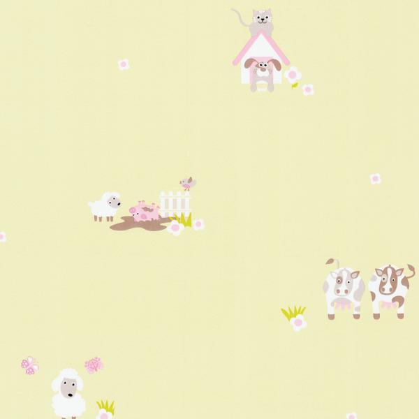 Happy Kids 5570 10 Tapeta Dziecięca Krówki Pieski Kotki świnki
