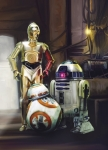 Fototapeta STAR WARS 4-447 184cm x 254cm Three Droids