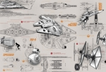 Fototapeta STAR WARS 8-493 368cm x 254cm Blueprints