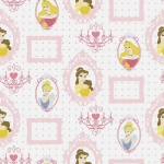 Tapeta KIDS HOME D71799 PRINCESS FRAMES