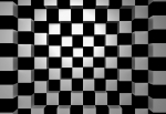 Fototapeta na flizelinie 968 Black and White Squares 3D