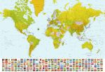 Fototapeta  Map of the World 00280 366 x 254 cm