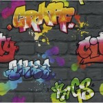 Tapeta KIDS TEENS Rasch 237801 graffiti cegla mur